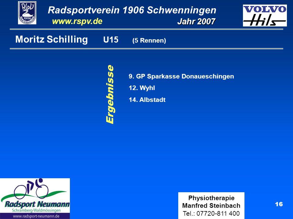 Moritz Schilling U15 (5 Rennen)