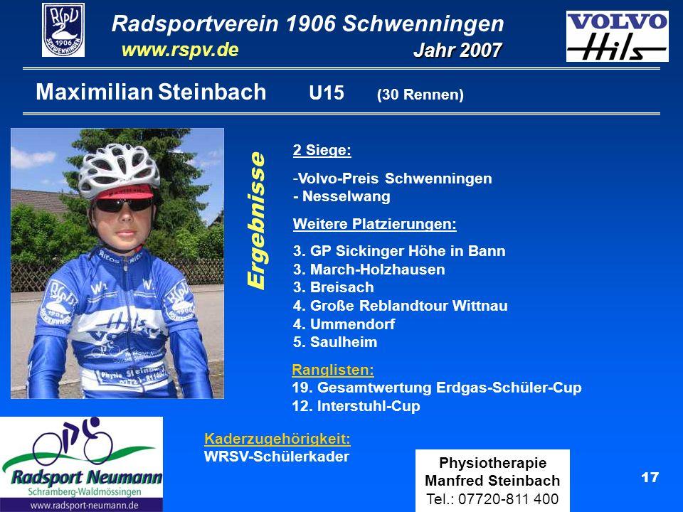 Maximilian Steinbach U15 (30 Rennen)