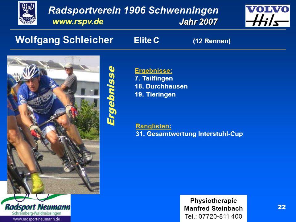Wolfgang Schleicher Elite C (12 Rennen)