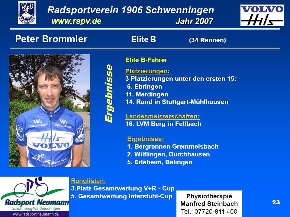 Peter Brommler Elite B (34 Rennen)