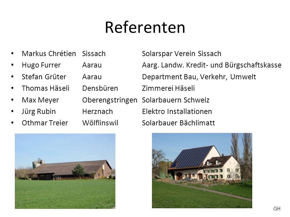 Referenten Markus Chrétien Sissach Solarspar Verein Sissach