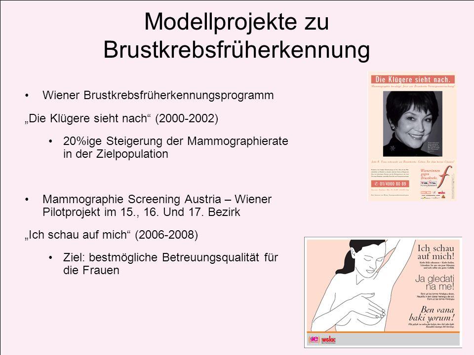 Modellprojekte zu Brustkrebsfrüherkennung