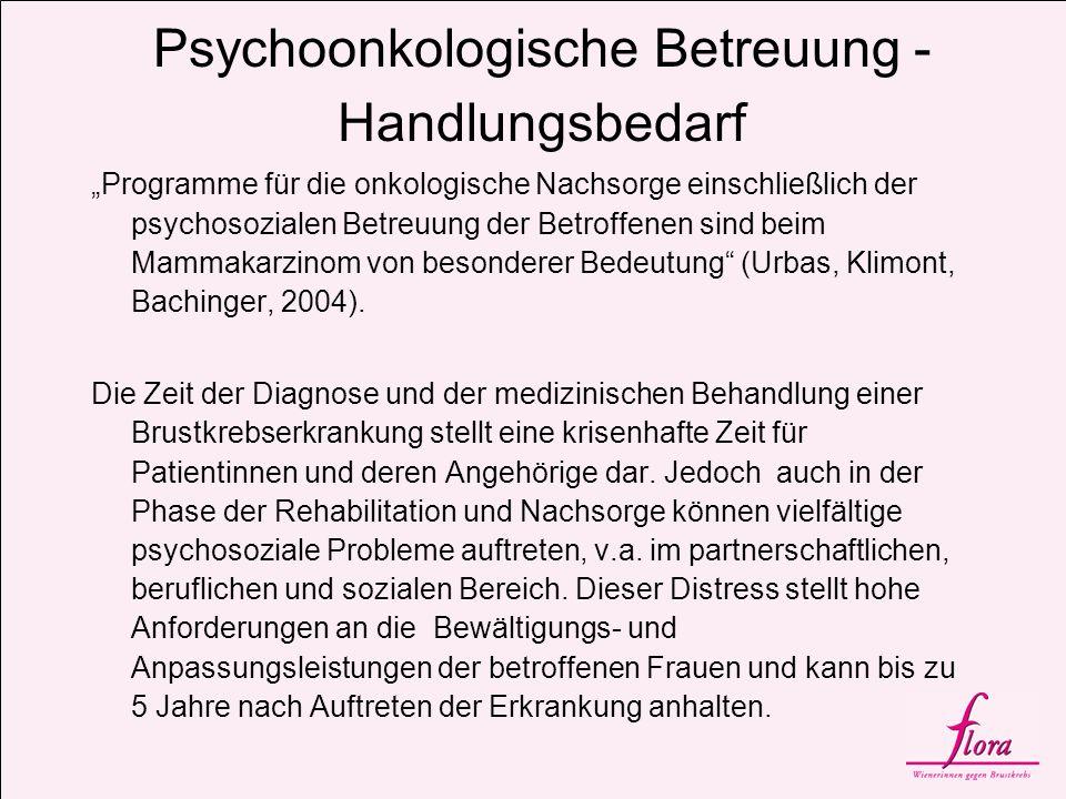 Psychoonkologische Betreuung - Handlungsbedarf