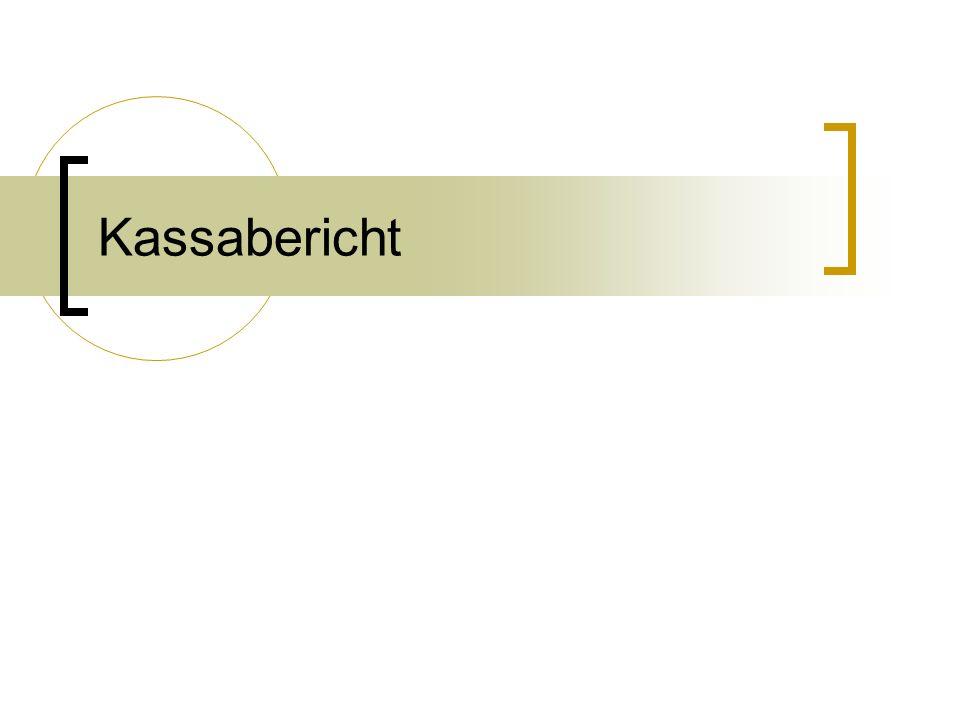 Kassabericht