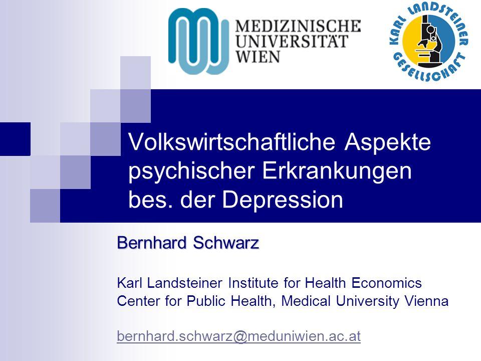 Volkswirtschaftliche Aspekte psychischer Erkrankungen bes