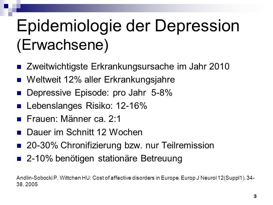 Epidemiologie der Depression (Erwachsene)