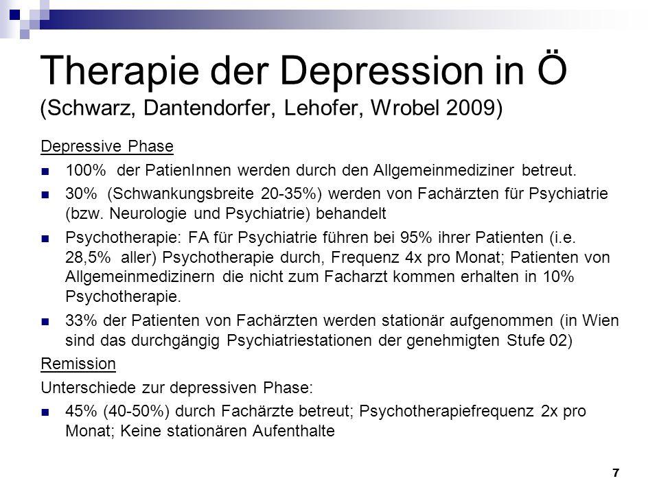 Therapie der Depression in Ö (Schwarz, Dantendorfer, Lehofer, Wrobel 2009)