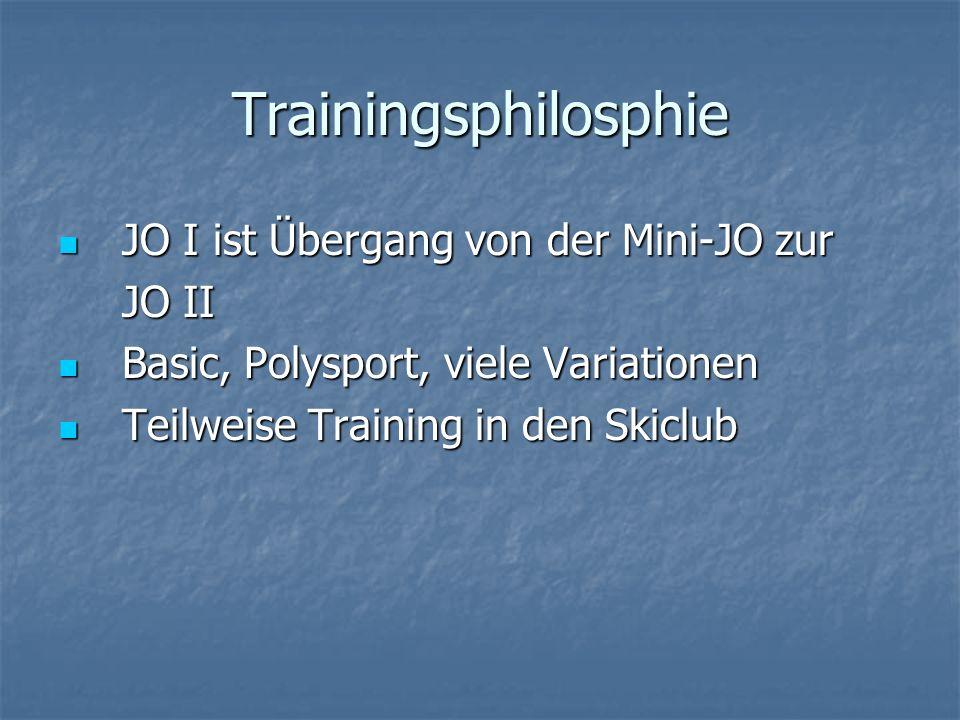 Trainingsphilosphie JO I ist Übergang von der Mini-JO zur JO II