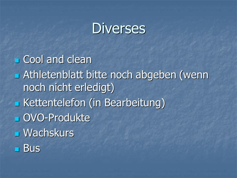 Diverses Cool and clean