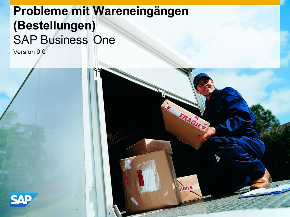 Probleme mit Wareneingängen (Bestellungen) SAP Business One
