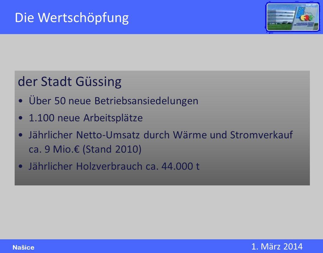 Die Wertschöpfung der Stadt Güssing Über 50 neue Betriebsansiedelungen