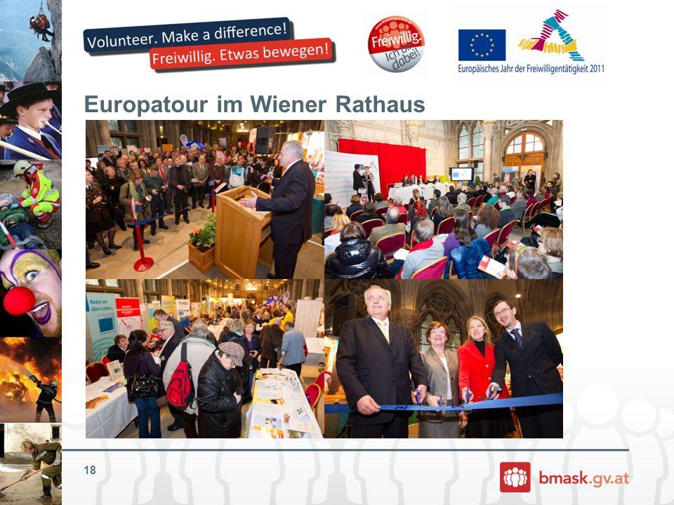 Europatour im Wiener Rathaus