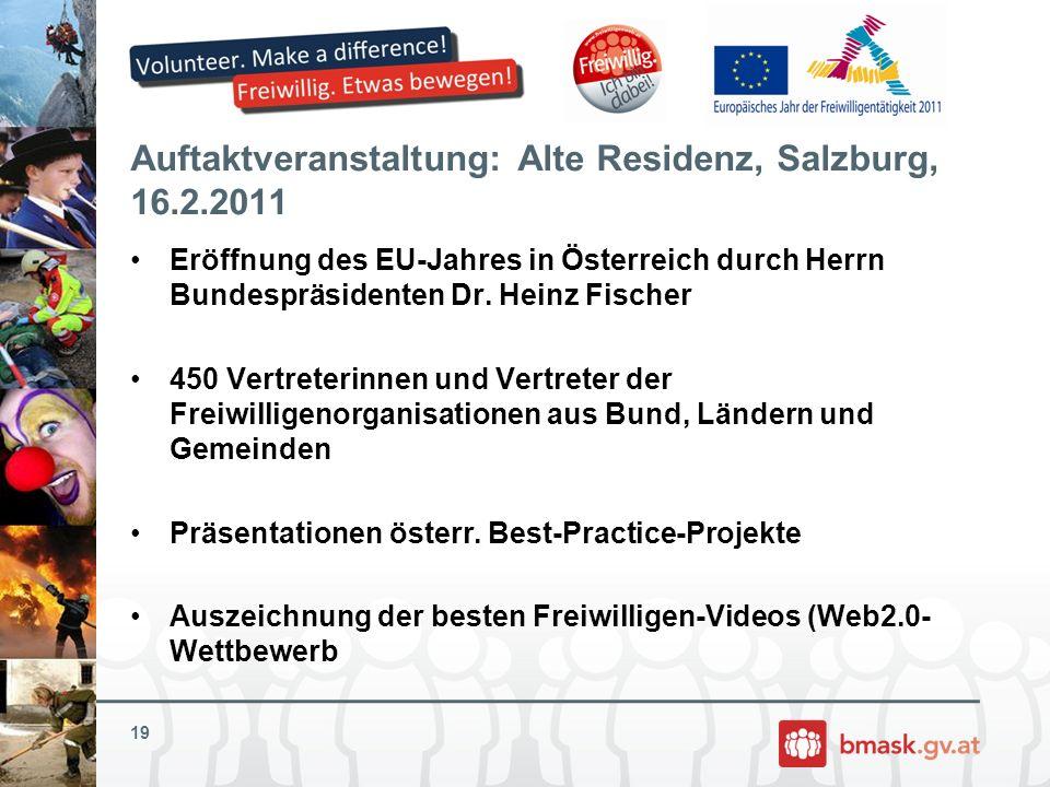 Auftaktveranstaltung: Alte Residenz, Salzburg, 16.2.2011
