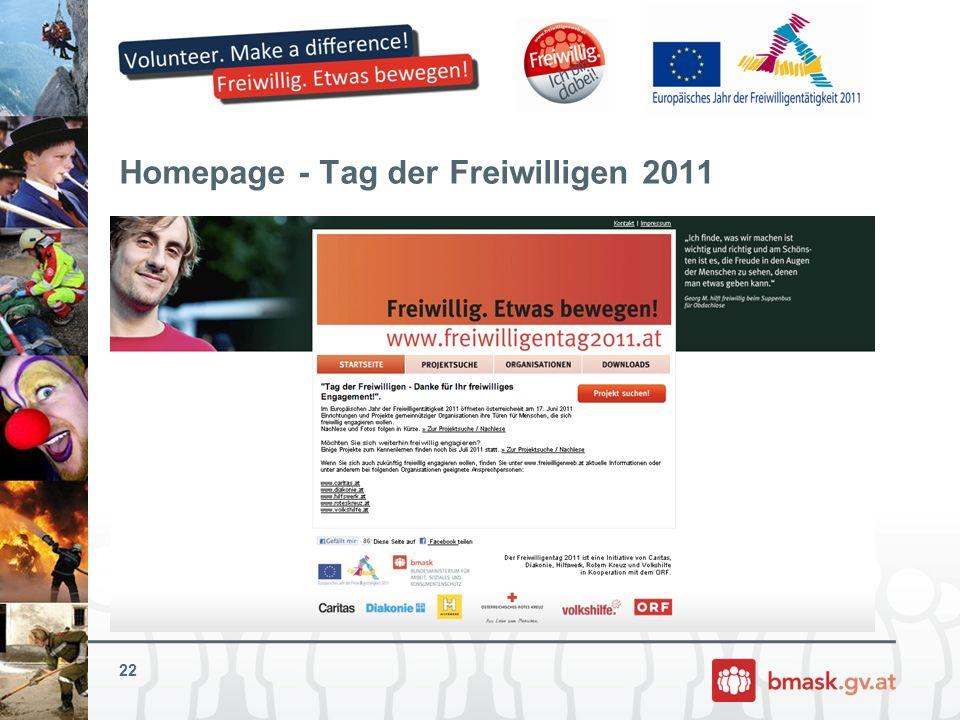 Homepage - Tag der Freiwilligen 2011
