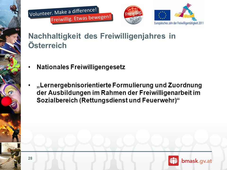 Nachhaltigkeit des Freiwilligenjahres in Österreich