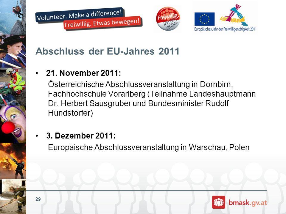 Abschluss der EU-Jahres 2011