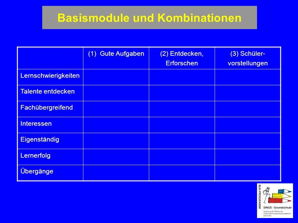 Basismodule und Kombinationen