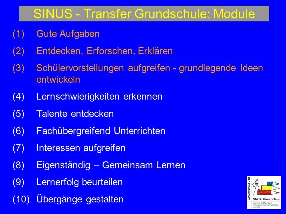 SINUS - Transfer Grundschule: Module