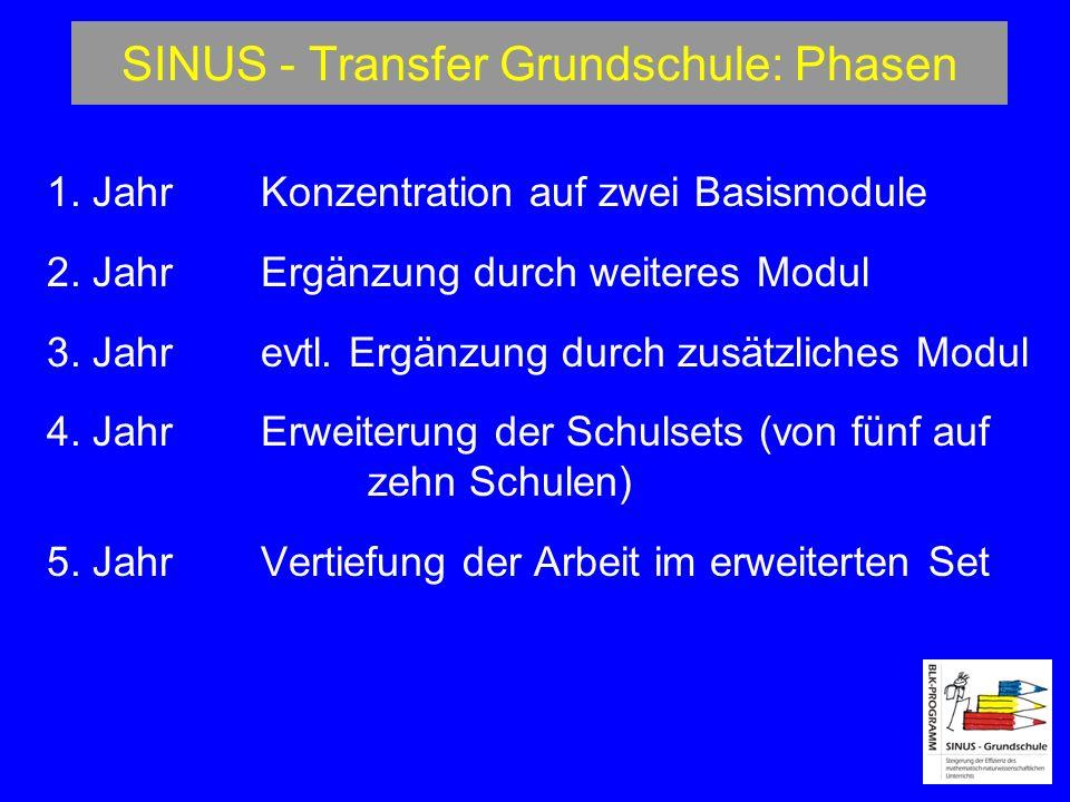 SINUS - Transfer Grundschule: Phasen