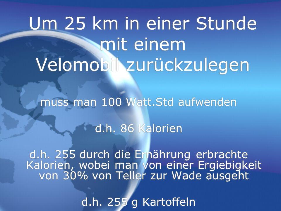 Um 25 km in einer Stunde mit einem Velomobil zurückzulegen
