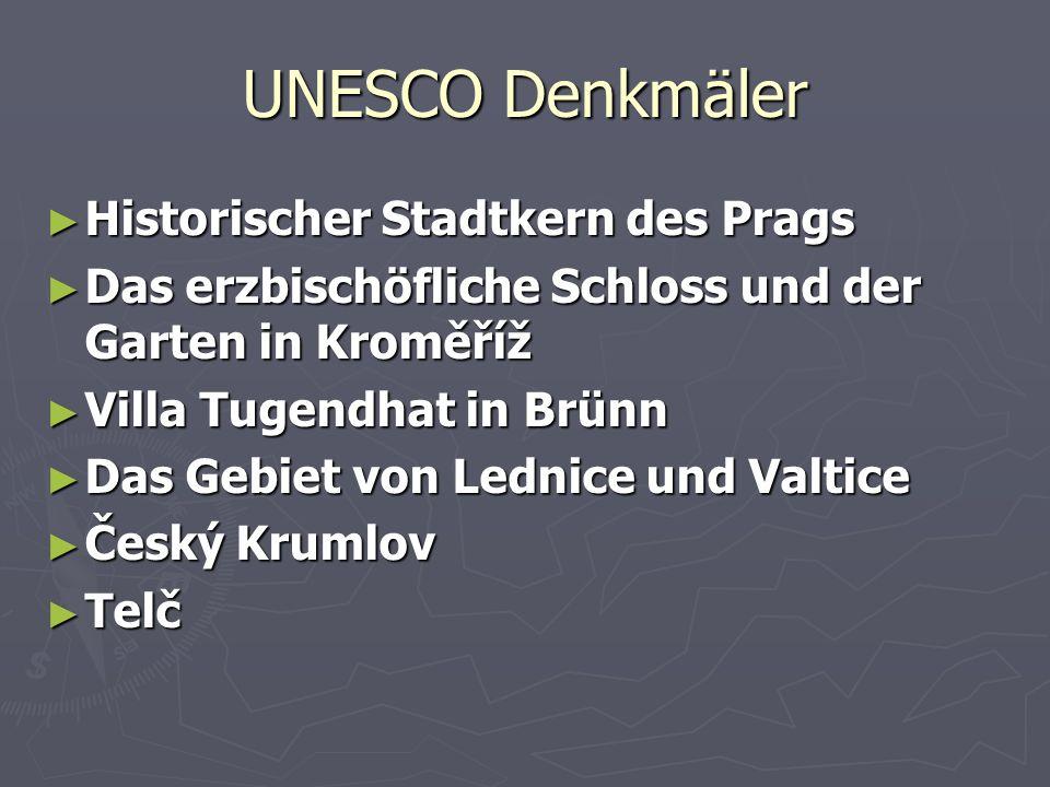 UNESCO Denkmäler Historischer Stadtkern des Prags