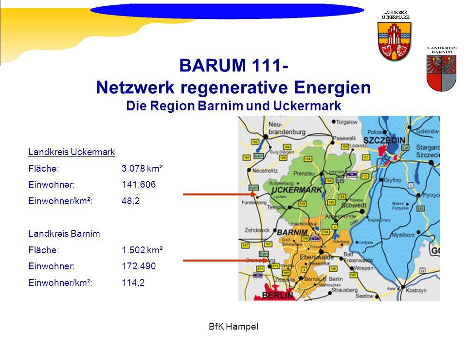 BARUM 111- Netzwerk regenerative Energien Die Region Barnim und Uckermark