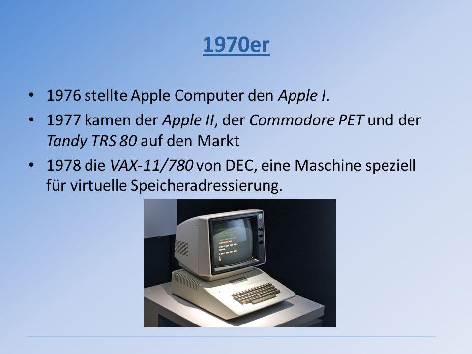 1970er 1976 stellte Apple Computer den Apple I.