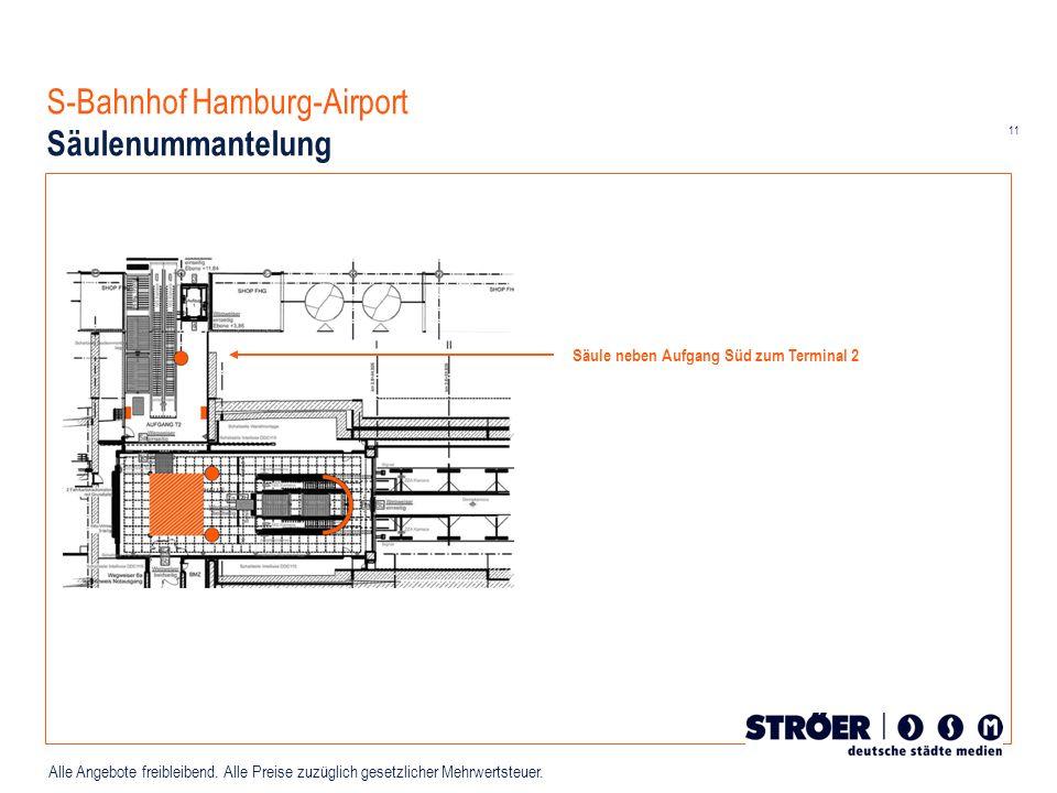 S-Bahnhof Hamburg-Airport Säulenummantelung