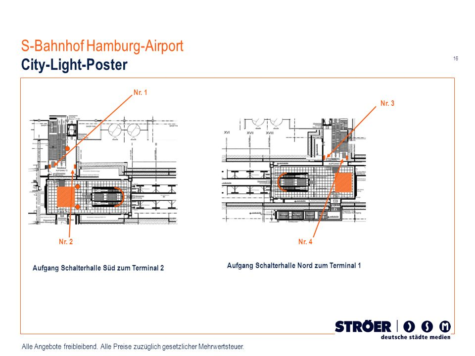 S-Bahnhof Hamburg-Airport City-Light-Poster