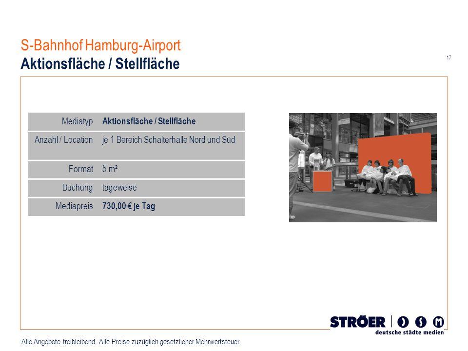 S-Bahnhof Hamburg-Airport Aktionsfläche / Stellfläche