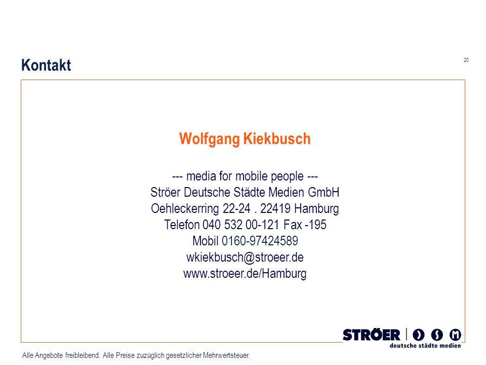Kontakt Wolfgang Kiekbusch