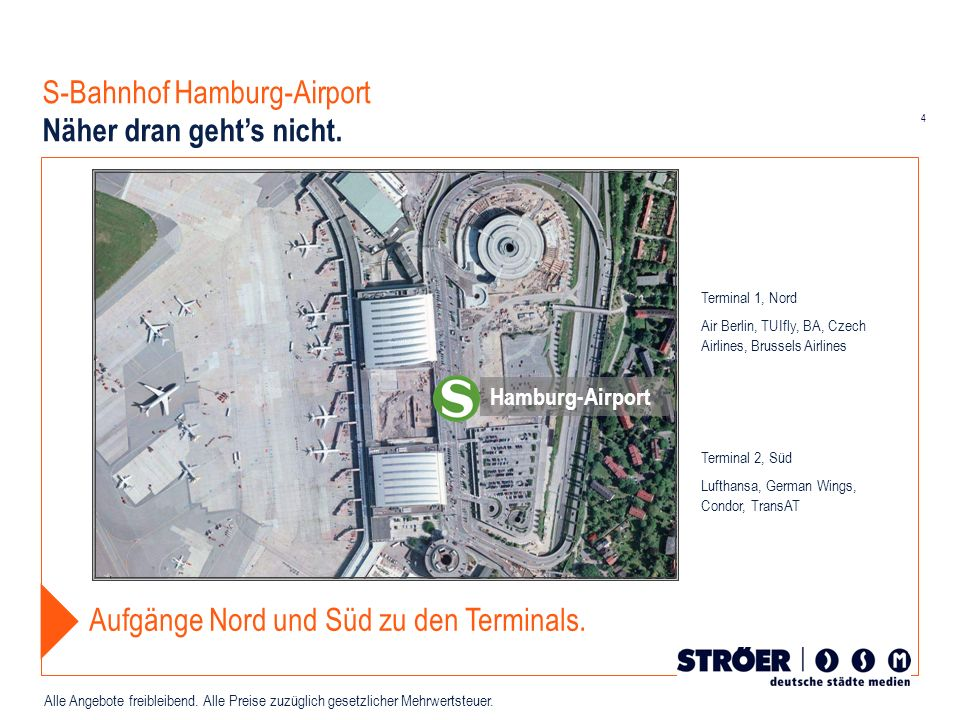 S-Bahnhof Hamburg-Airport Näher dran geht's nicht.