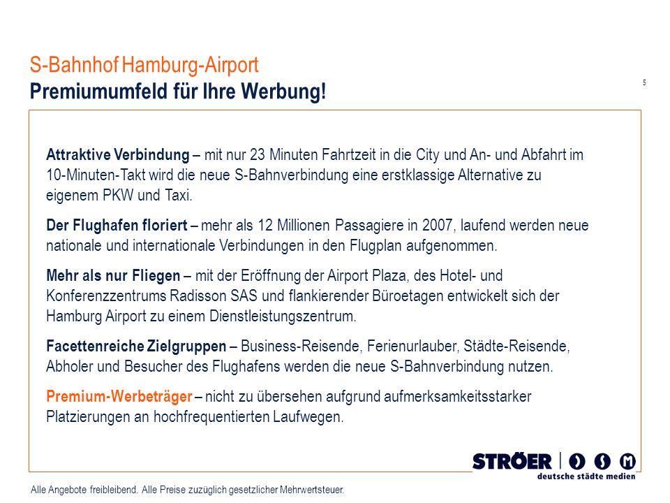 S-Bahnhof Hamburg-Airport Premiumumfeld für Ihre Werbung!