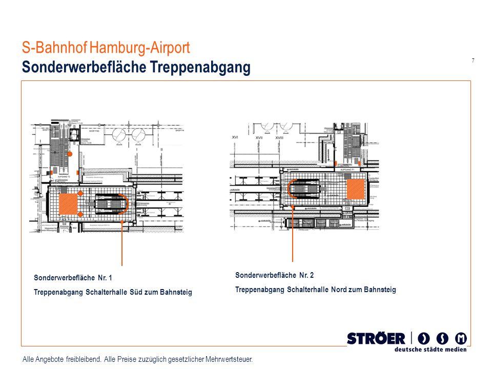 S-Bahnhof Hamburg-Airport Sonderwerbefläche Treppenabgang