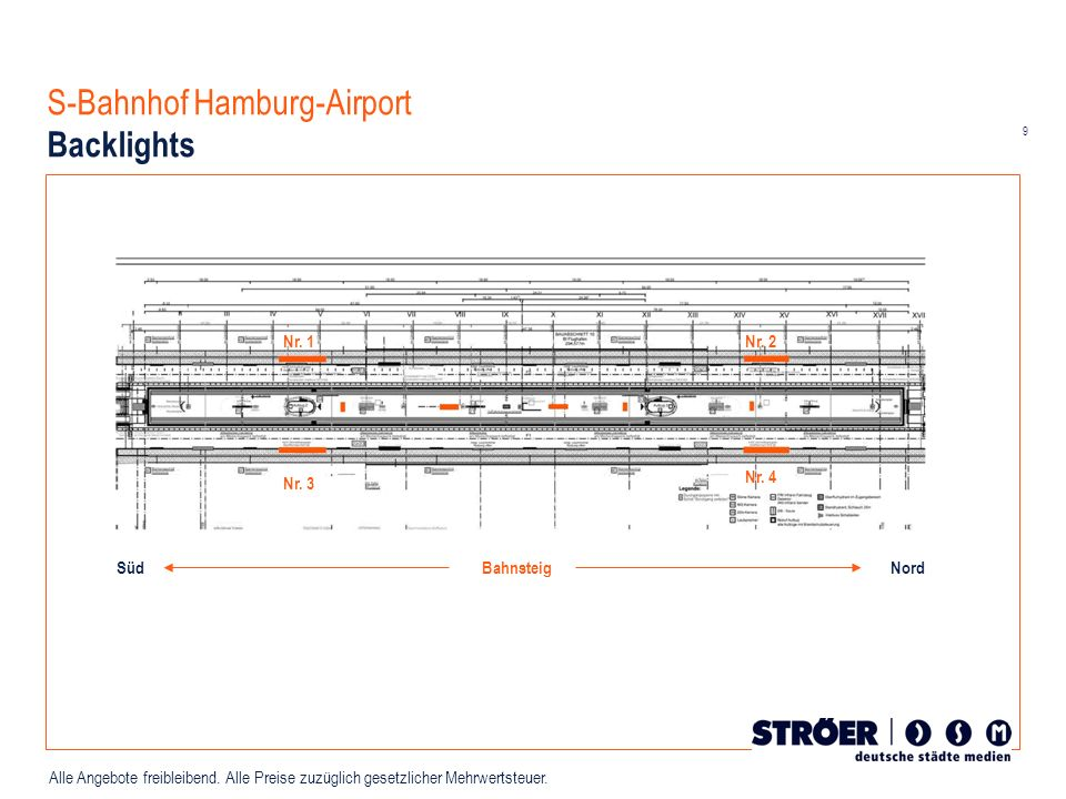 S-Bahnhof Hamburg-Airport Backlights
