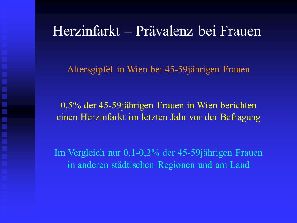 Altersgipfel in Wien bei 45-59jährigen Frauen