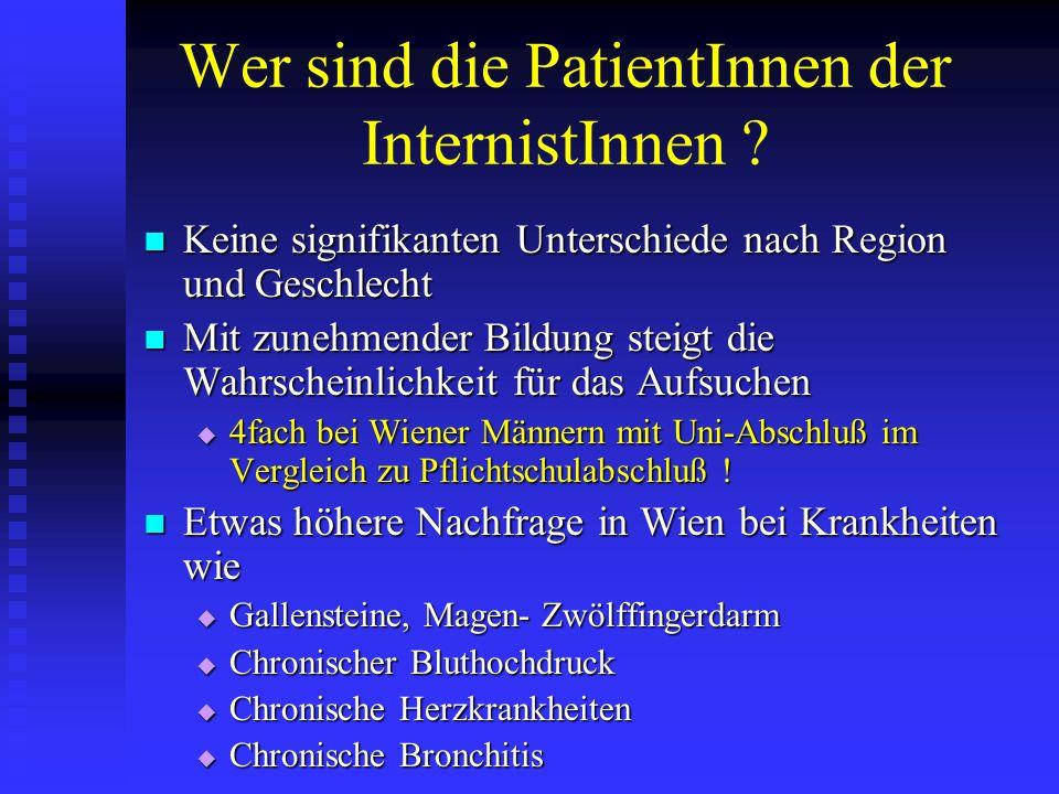 Wer sind die PatientInnen der InternistInnen