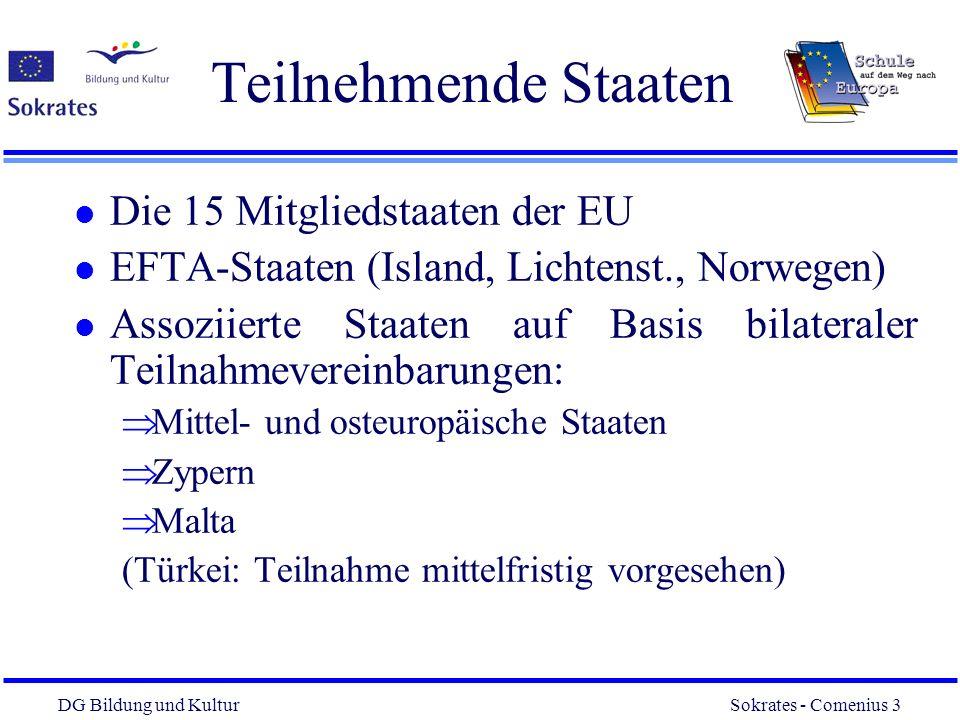 Teilnehmende Staaten Die 15 Mitgliedstaaten der EU