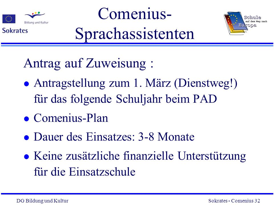 Comenius- Sprachassistenten