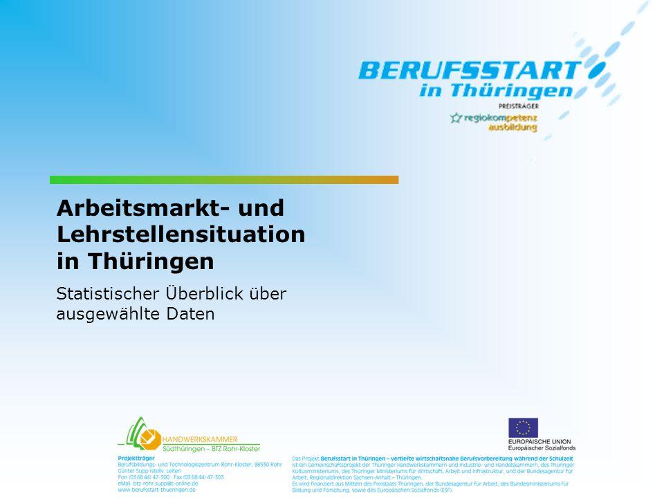 Arbeitsmarkt- und Lehrstellensituation in Thüringen