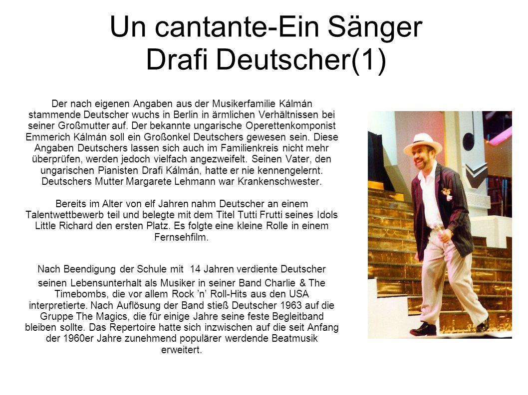 Un cantante-Ein Sänger Drafi Deutscher(1)