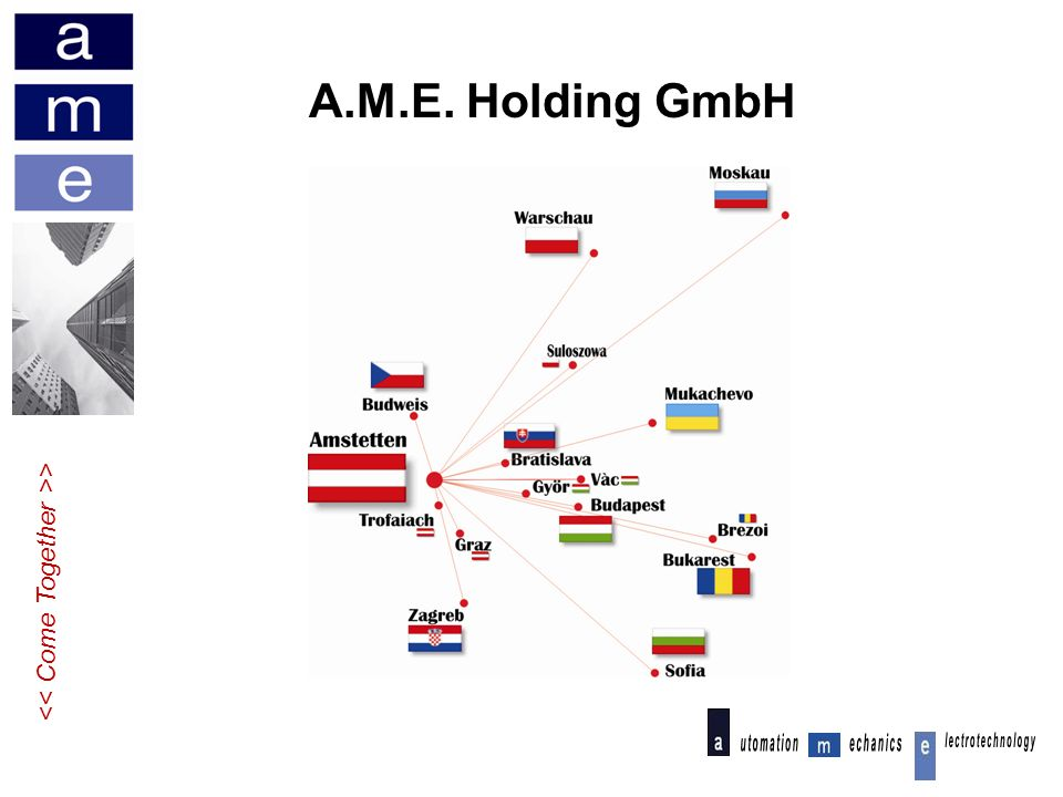 A.M.E. Holding GmbH << Come Together >>