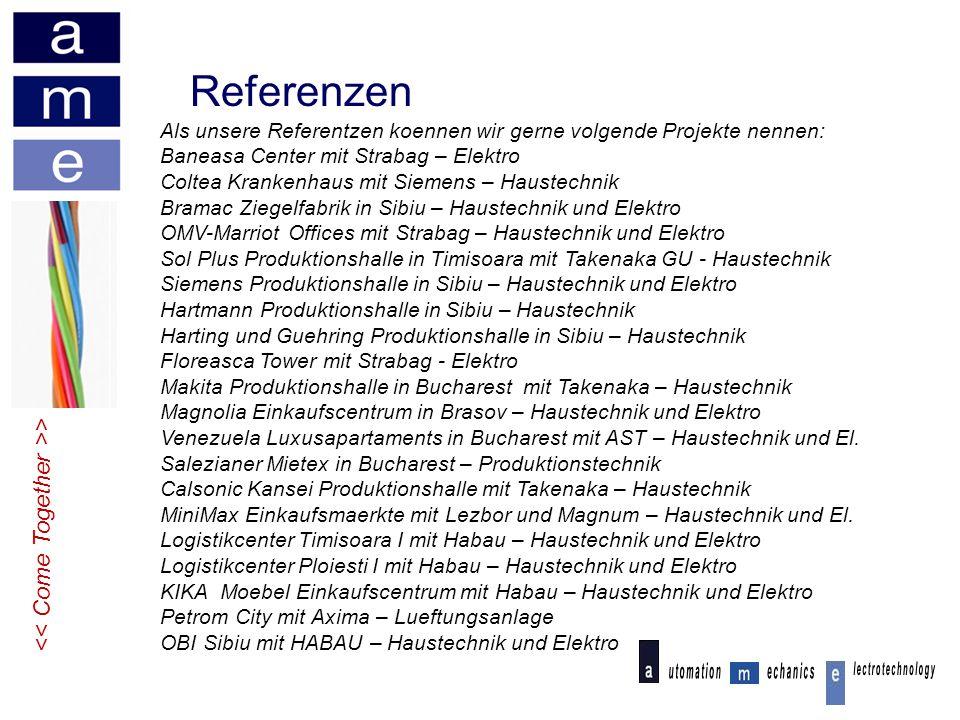 Referenzen << Come Together >>