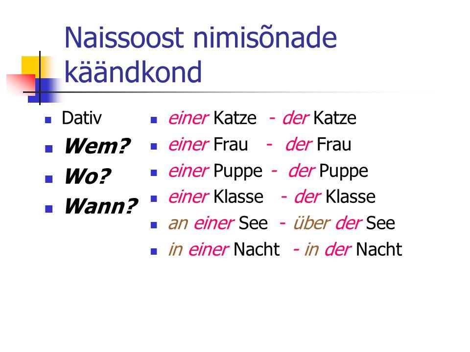 Naissoost nimisõnade käändkond