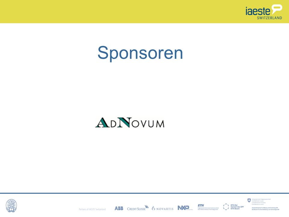 Sponsoren Les sponsors sont aussi source de financement.