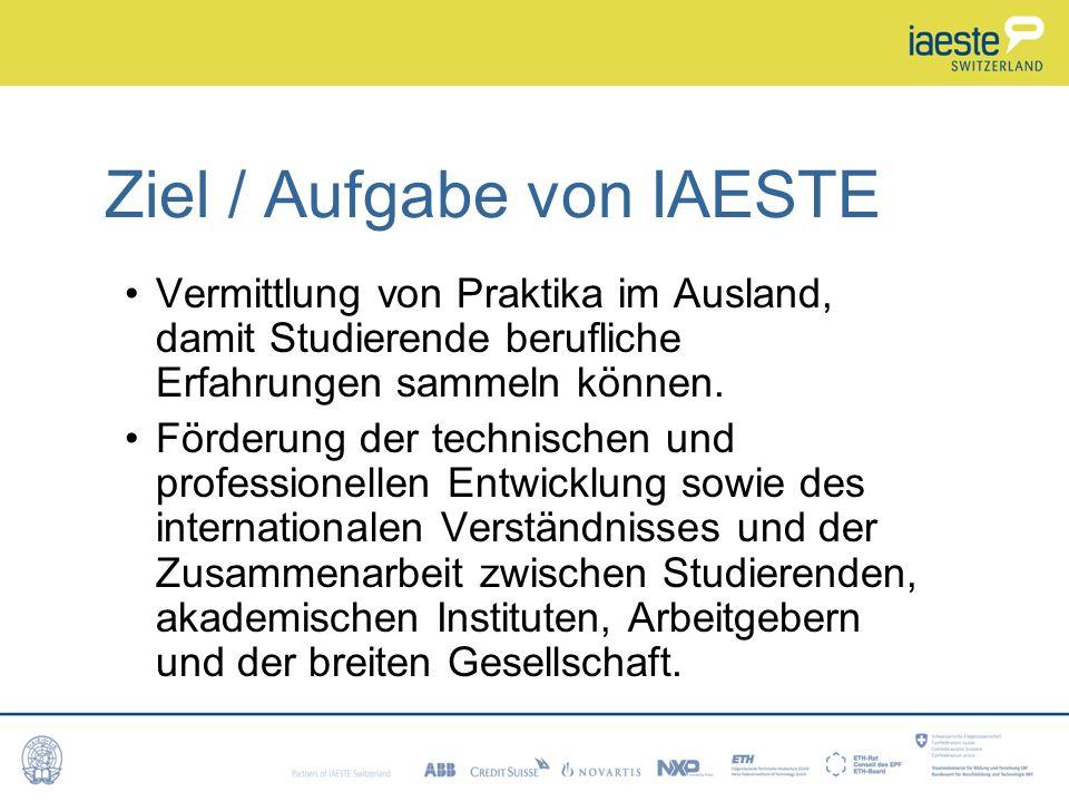 Ziel / Aufgabe von IAESTE
