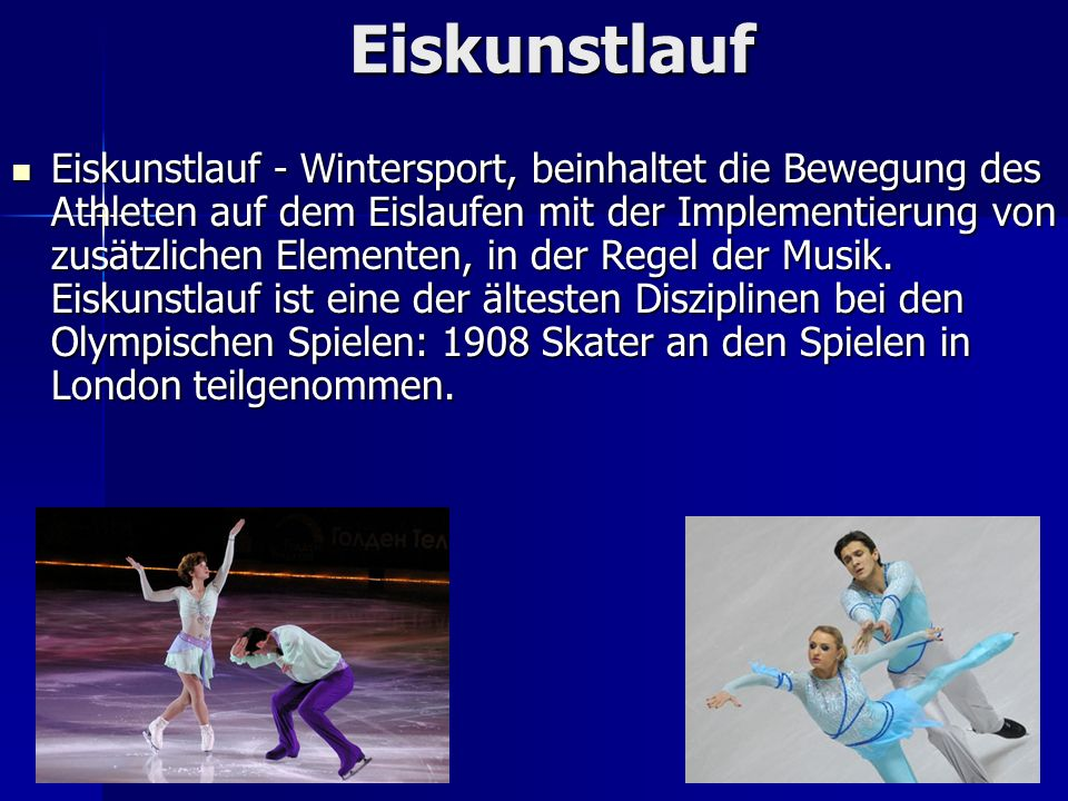 Eiskunstlauf