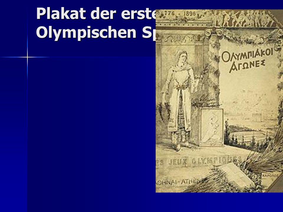 Plakat der ersten Olympischen Spiele