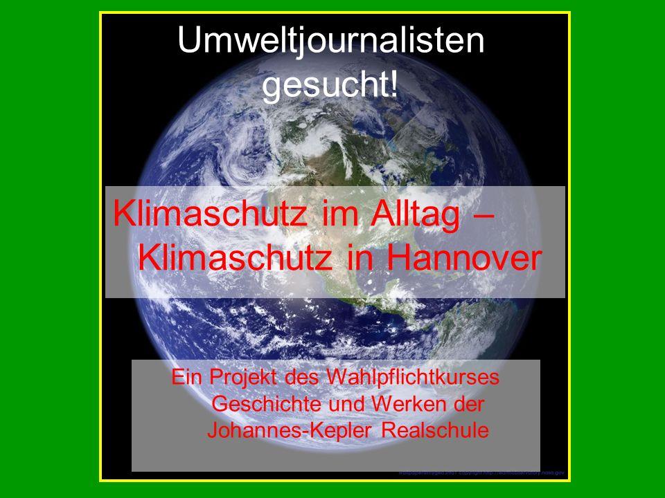 Umweltjournalisten gesucht!