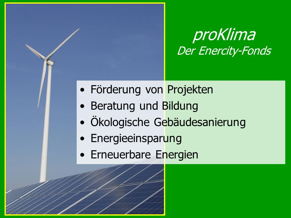 proKlima Der Enercity-Fonds
